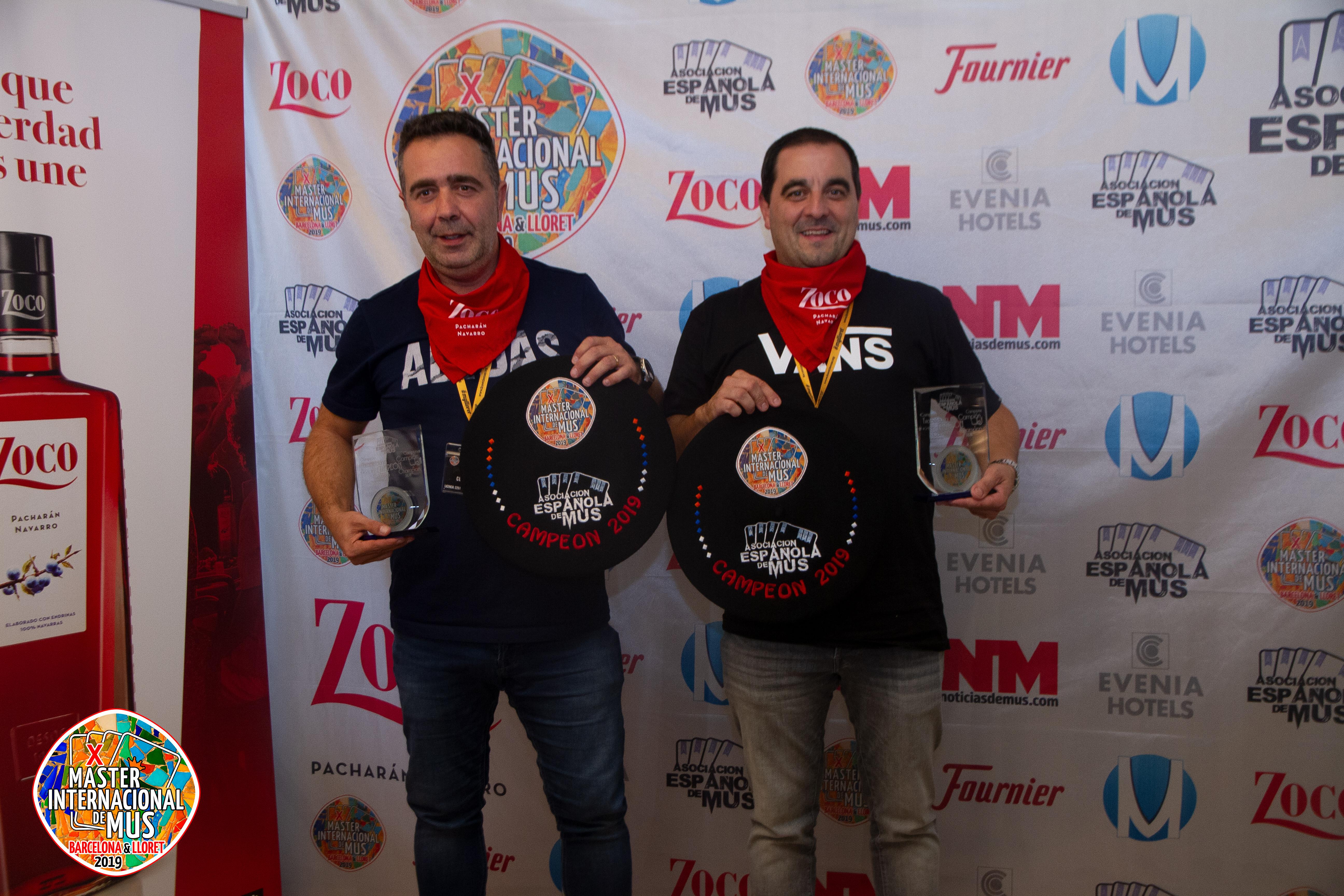 Campeones: César Rasines - Aitor Tolosa